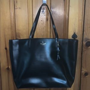 Stunning Authentic Kate Spade Black Leather Tote